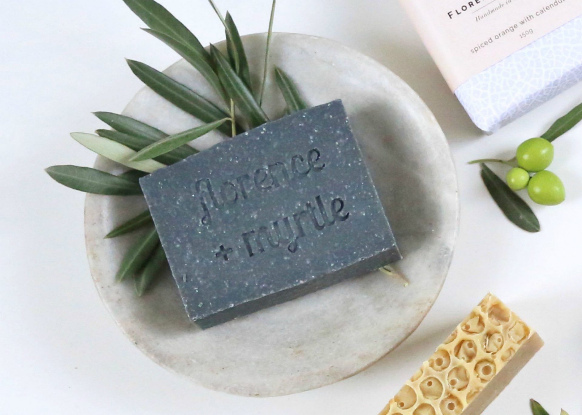 Florence + Myrtle Olive Oil Activated Charcoal Detox Facial Bar