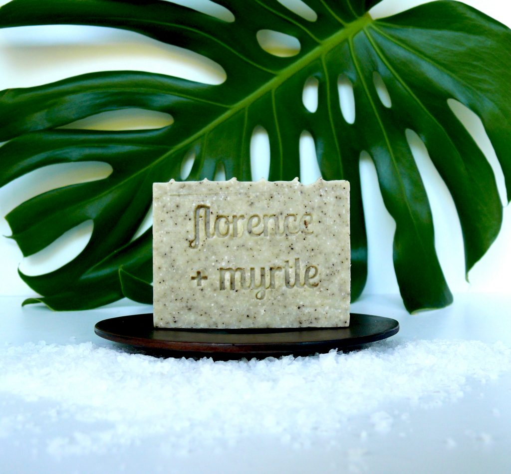 Florence + Myrtle Olive Oil Vegan Coffee Scrub Soap