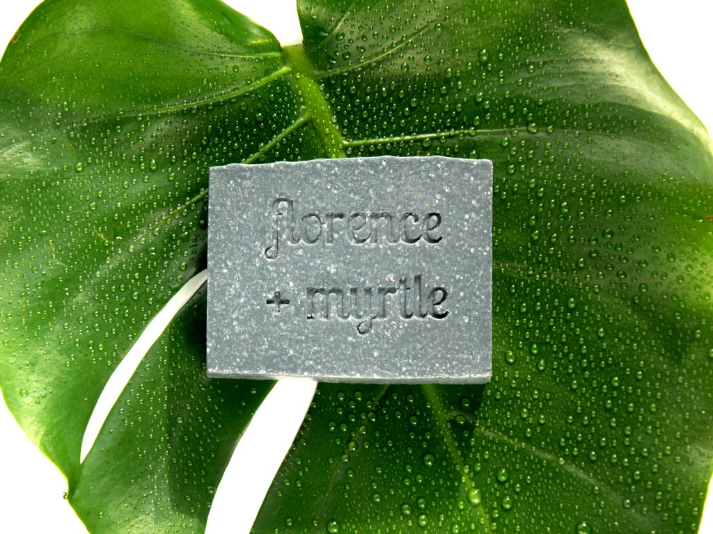 Florence + Myrtle Organic Shea Butter Activated Charcoal Detox Facial Bar