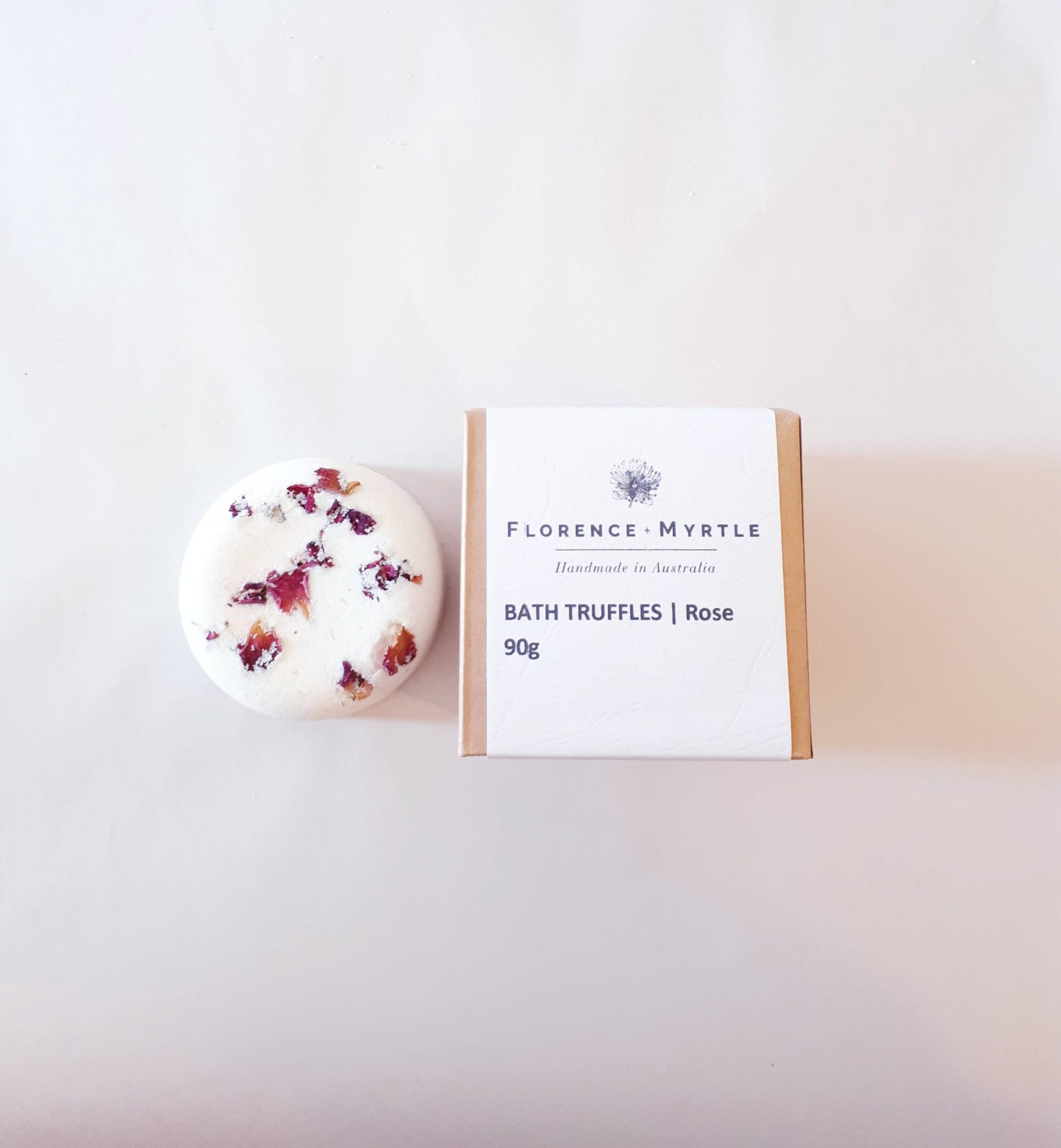 Bath Bomb Truffles Rose Vegan Beauty