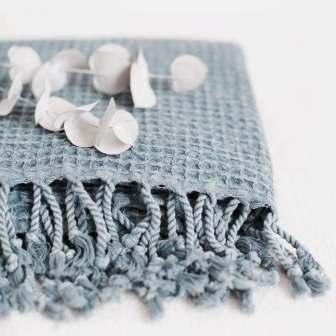 Handloomed Cotton Throws Towels Fog