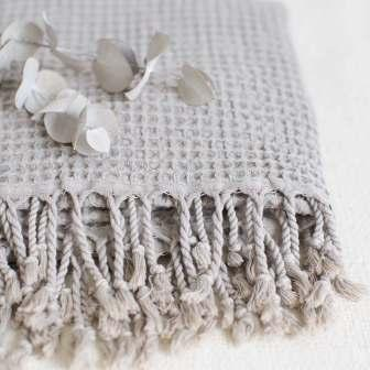 Handloomed Cotton Throws Towels Sand