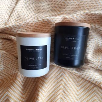 Olive Leaf Black Soy Candle